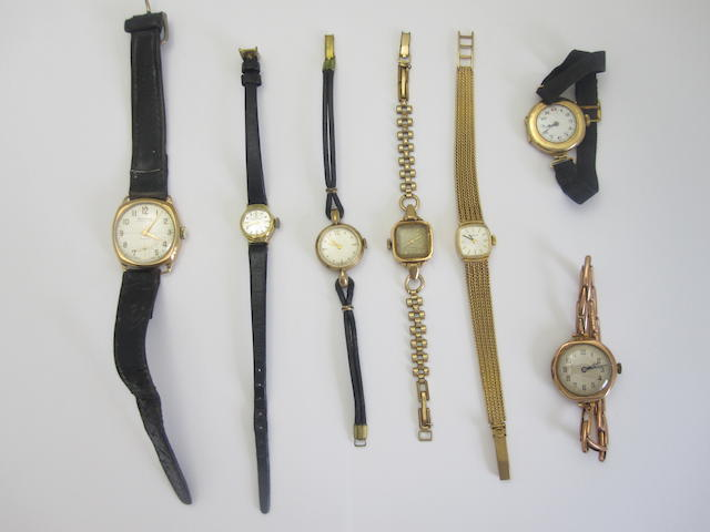 A collection of lady's wristwatches (7)