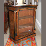 A Victorian gilt-metal mounted, ebonised, marquetry and line inlaid side cabinet