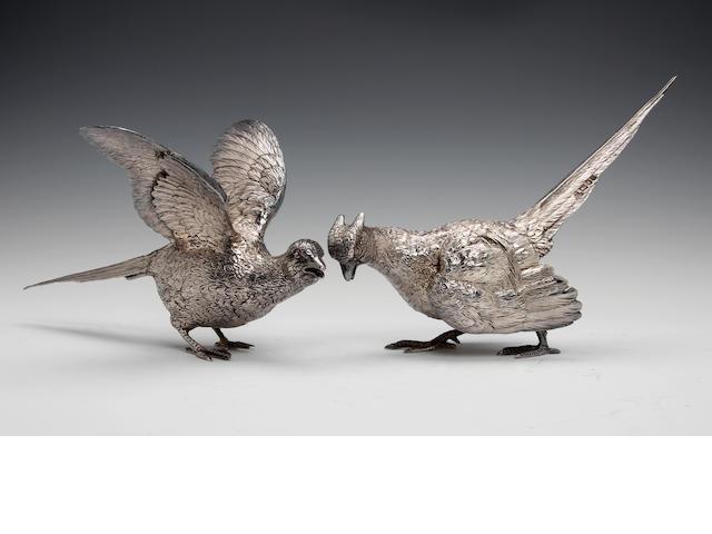 A pair of silver pheasants by CSR Ltd., London 1973
