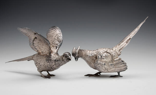 A pair of silver pheasants by CSR Ltd., London 1973