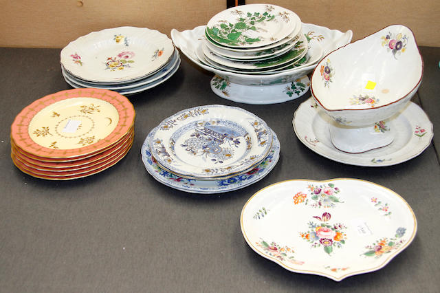 A Spode part dinner service and others 19th century