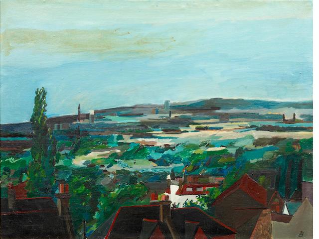 Ben Levene RA (British, 1938-2010) View from Dulwich towards London