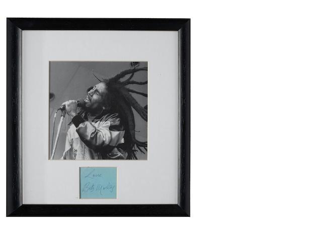 Bob Marley's autograph,