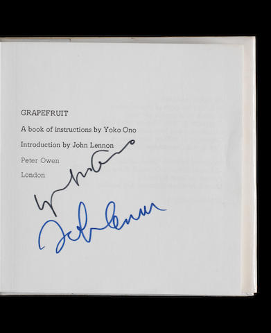 A copy of 'Grapefruit' signed by John Lennon & Yoko Ono,