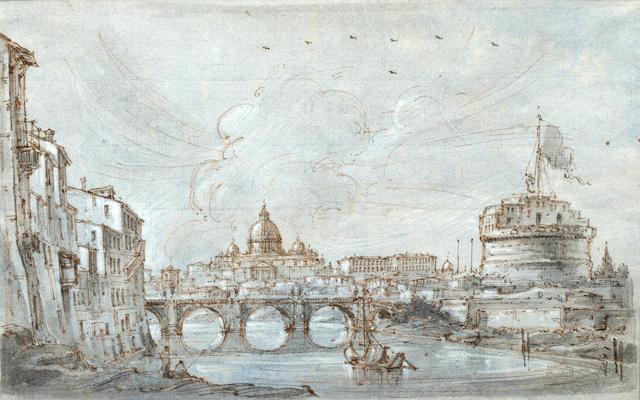 18th Century Italian School View of the Tiber
