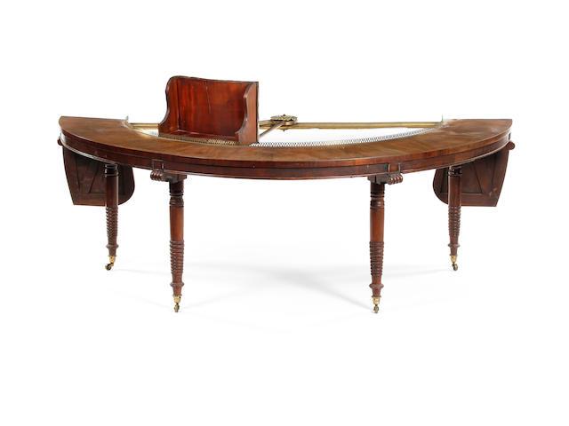 An early 19th century mahogany 'social' table