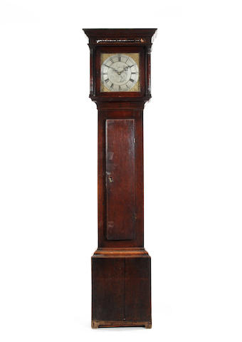 An oak longcase clock, circa 1800