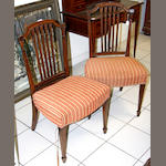 A set of six George III mahogany chairs,