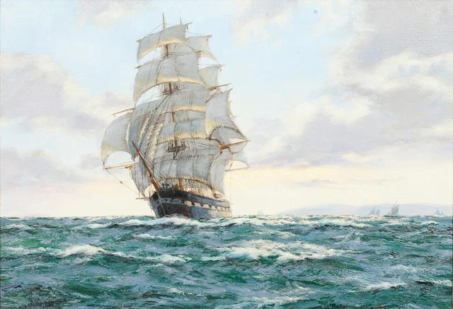 "Henry Scott (British, 1911-2005) Evening Clouds, Clipper Ship ""Golden Fleece""; and companion Wool Clipper ""Salamis"""