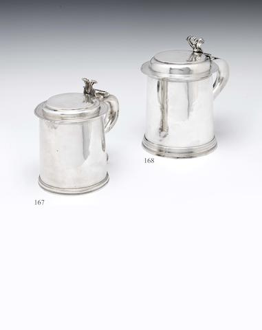 A Charles II  silver tankard By Adam King, London 1679