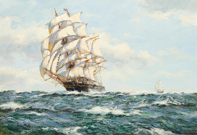 Henry Scott (British, 1911-2005) The Clipper Leander in full sail