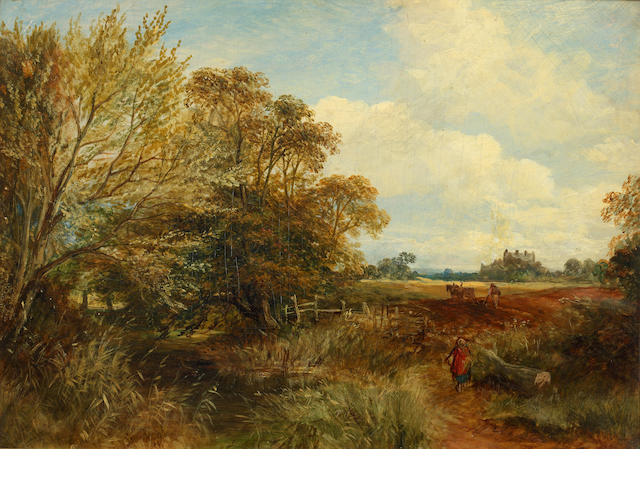 Samuel Bough, RSA (British, 1822-1878) Ploughing