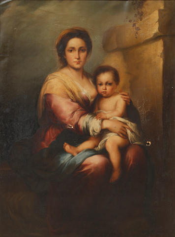 After Bartolomé Esteban Murillo, 19th Century Madonna and Child