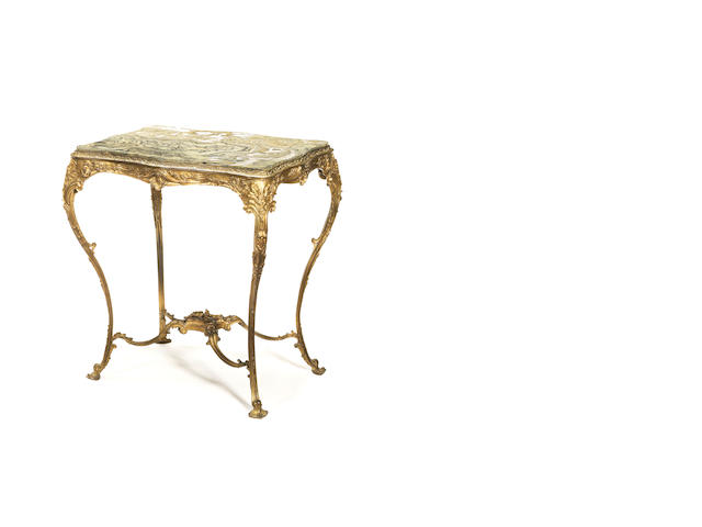A French late 19th century Louis XV style gilt-bronze occasional table
