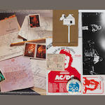 AC/DC: an autographed copy of the album 'High Voltage' and related memorabilia, 1976,