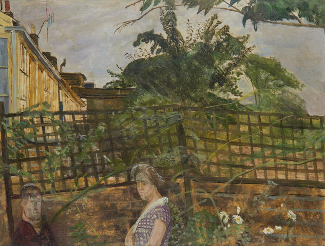 Carel Weight R.A. (British, 1908-1997) Mother and son
