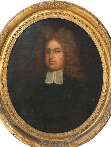 English School, 18th Century Portrait of the Rev'd Christopher Clarke, M.A