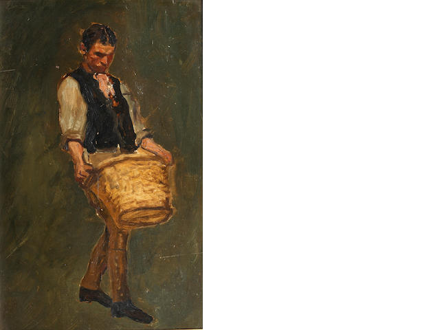 Edwin Arthur Ward (British) Man with basket