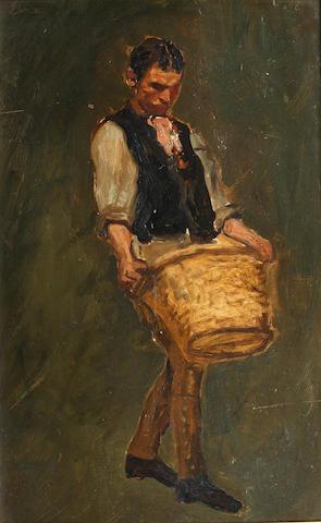 Edwin Arthur Ward (British) Man with basket