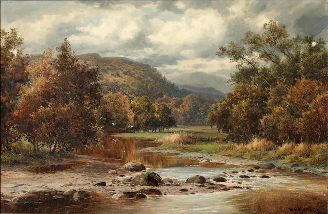William Henry Mander (British, 1850-1922) On the Wynion, Dolgelley