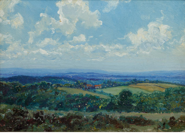 Louis Ginnett (British, 1875-1946) 'The South Downs from the Forest Ridge' and another similar,