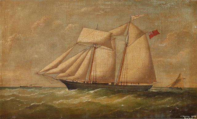 Joseph Semple (Irish, fl. 1867-1874) M V Clyde