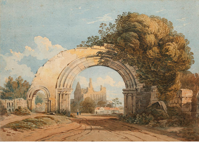 John Varley, OWS (British, 1778-1842) Italianate ruins