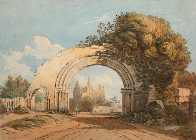 John Varley, OWS (British, 1778-1842) Italianate ruins