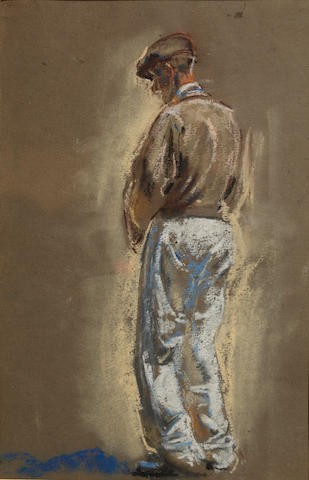 Henry Tonks (British, 1861-1937) Full length portrait study of a man