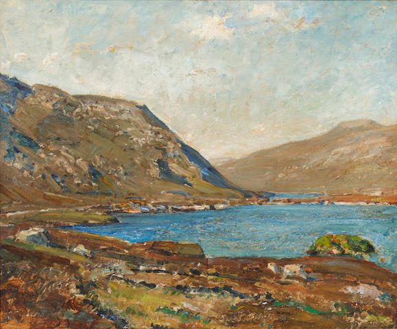 Herbert F. Royle (British, 1870-1958) Loch Laxdale (the Blue Loch), Harris