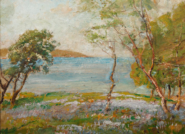 Herbert F. Royle (British, 1870-1958) Lakeside view