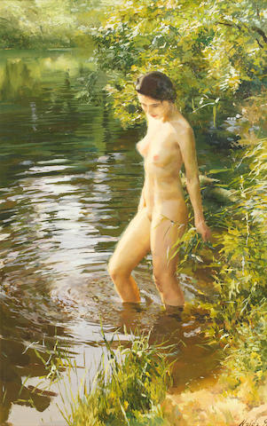 Dmitri Naida (Russian, born 1969) The young bather