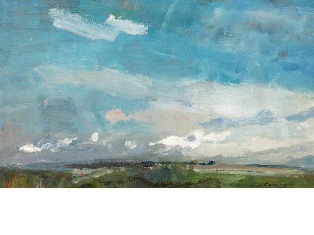 Fred Cuming (British, born 1930) 'Cloud formation, Kentish Downs'