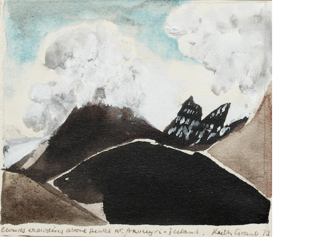 Keith Grant (British, born 1930) Clouds exploding over peaks at Akureyi, Iceland