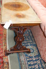 A Victorian walnut and burr walnut centre table