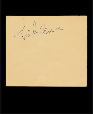 A John Lennon autograph, 1960s,