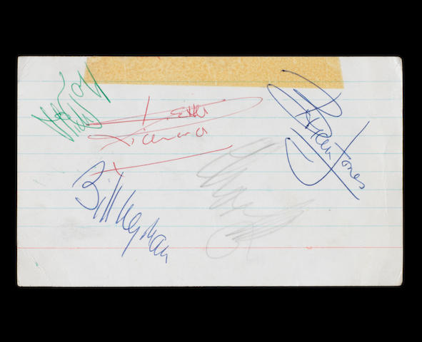 Autographs of the Rolling Stones, 1960s,