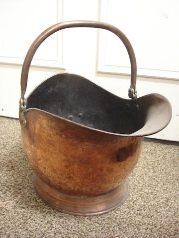 A Victorian coal scuttle