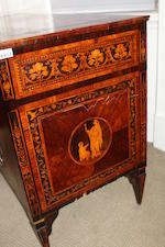 An 18th century and later North Italian walnut and marquetry commode