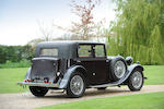 1933 Talbot 75 Sports Saloon  Chassis no. 34860 Engine no. AW166