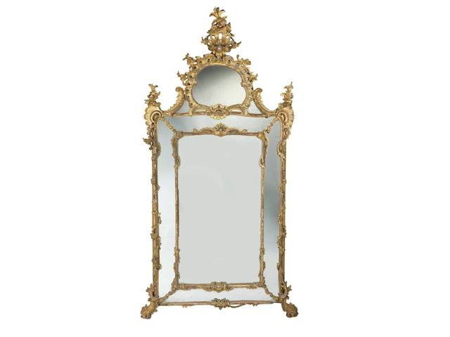 A large George IV giltwood pier mirrorin the Italianate style