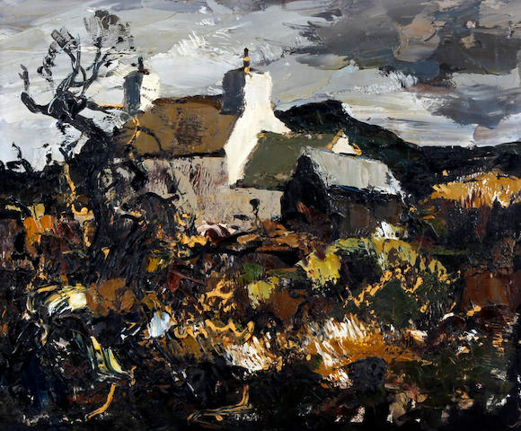 Donald McIntyre (British, 1923-2009) 'Cottage Caernarvonshire'
