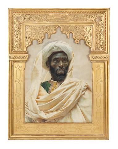 José  Tapiro y Baro (Spanish, 1830-1913) A Moroccan man