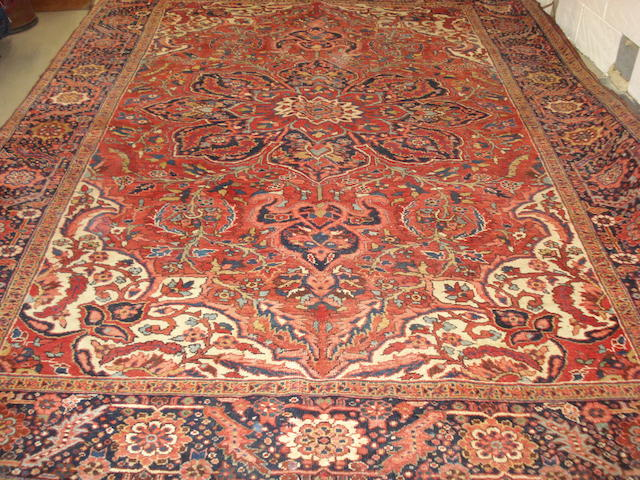 A Heriz carpet,  North West Persia, 380cm x 270cm