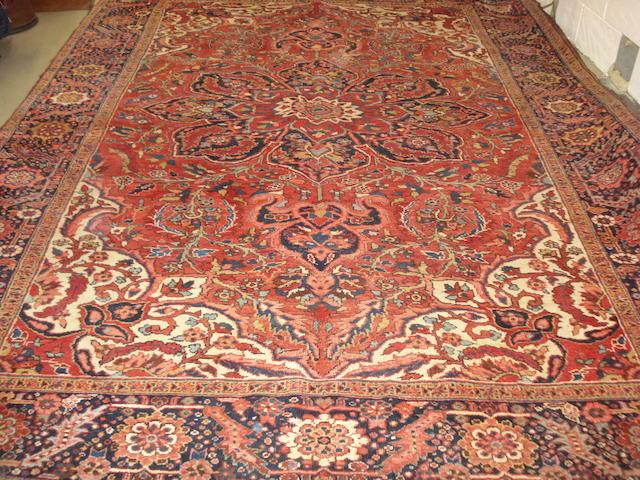 A Heriz carpet, North West Persia, 380cm x 270cm