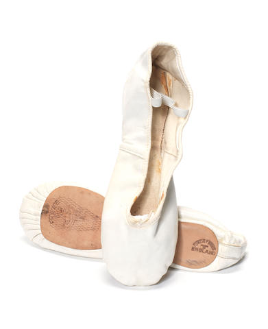 Freddie Mercury: the pair of ballet pumps worn during Queen's legendary Hyde Park performance, 1976,