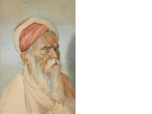 Sawlaram Laxman Haldankar (India, 1882-1968) An elderly bearded man