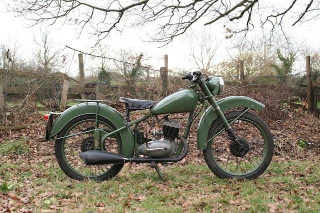1951 BSA 123cc Bantam D1 Frame no. 64820
