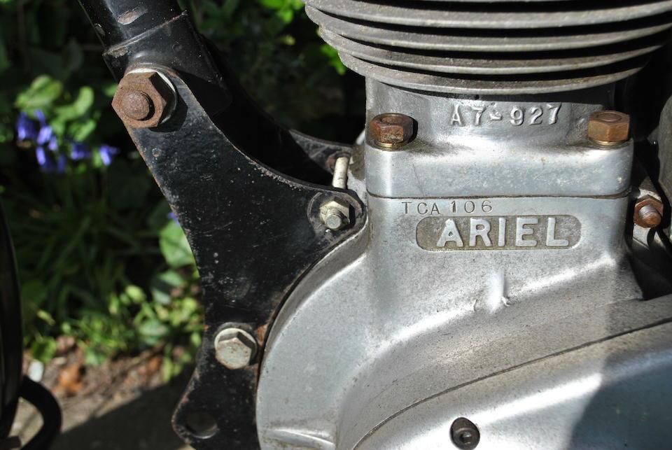 1952 Ariel 499cc Model VHA Red Hunter Frame no. Frame no. TCA 106 Engine no. Engine no. SD 462