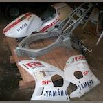 A Yamaha 400cc 'Exup' frame and body panels,